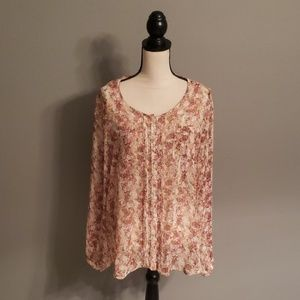 Jaclyn Smith Sheer Top Size XL